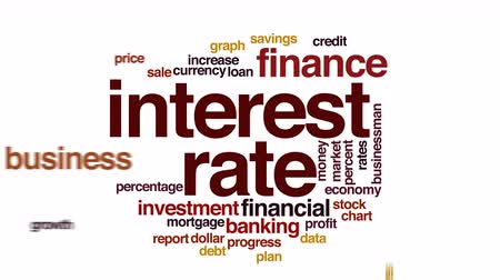 haladás : Interest rate animated word cloud.