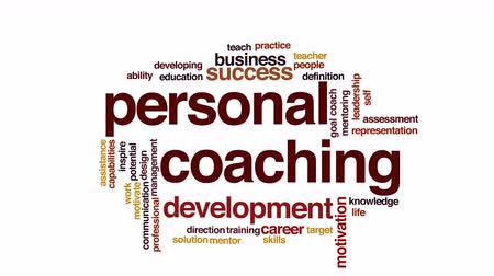 vida : Personal coaching animated word cloud.