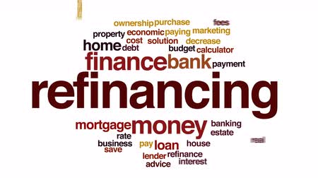 ипотека : Refinancing animated word cloud.