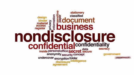 papelada : Nondisclosure animated word cloud. Stock Footage
