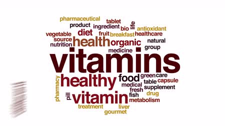 vitamin : Vitamins animated word cloud.