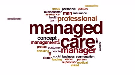 supervisor : Managed care analysis animated word cloud.