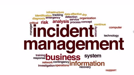 opsporing : Incident management geanimeerde word cloud.