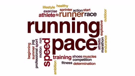 ambição : Running pace animated word cloud.