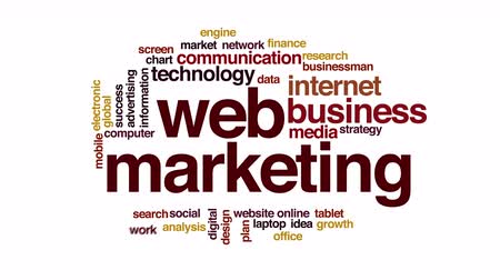 planimetrie : Web marketing animato word cloud.