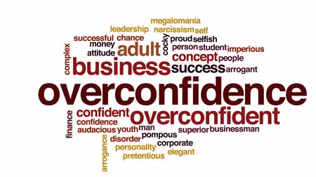превосходство : Overconfidence animated word cloud.