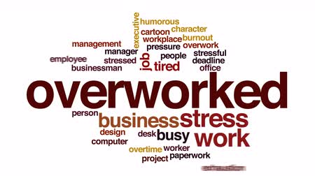 papelada : Overworked animated word cloud. Stock Footage
