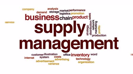 demanda : Supply management animated word cloud. Stock Footage