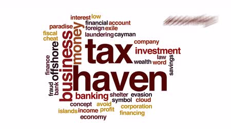 sürgün : Tax haven animated word cloud.