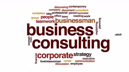 nuvem : Business consulting animated word cloud. Vídeos