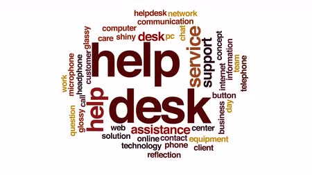 mikrofon : Helpdesk animated word cloud. Wideo