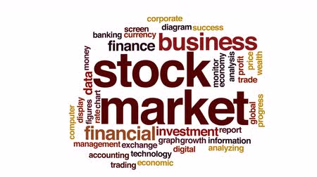 haladás : Stock market animated word cloud.