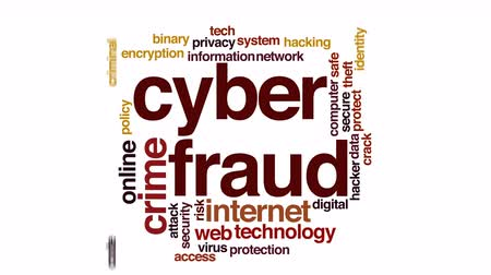 rachaduras : Cyberfraud animated word cloud.