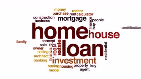 владелец : Home loan animated word cloud.