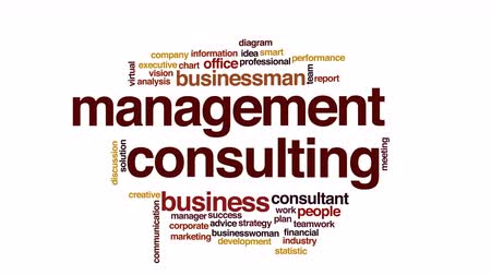 felhőzet : Management consulting animated word cloud.