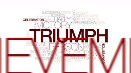 cíle : Triumph animated word cloud. Kinetic typography.