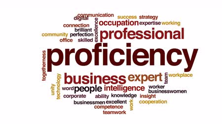excelência : Proficiency animated word cloud.