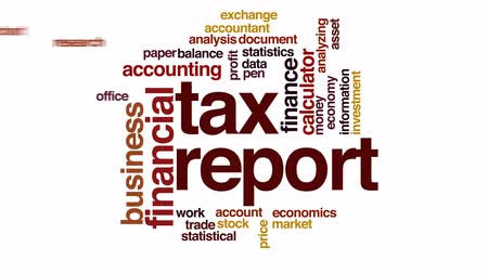 daň : Tax report animated word cloud.