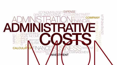 imposto : Administrative costs animated word cloud. Kinetic typography.