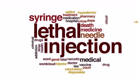 viciado : Lethal injection animated word cloud.