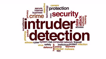 investigador : Intruder detection animated word cloud.