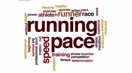 sportowiec : Running pace animated word cloud.