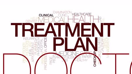 zarządzanie : Treatment plan animated word cloud. Wideo