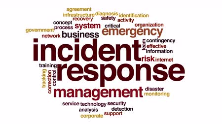 подготовке : Incident response animated word cloud.