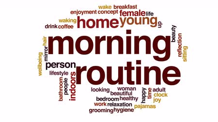 acorde : Morning routine animated word cloud.
