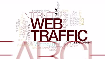 pesquisa : Web traffic plan animated word cloud. Kinetic typography. Vídeos