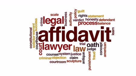 solicitor : Affidavit animated word cloud. Stock Footage
