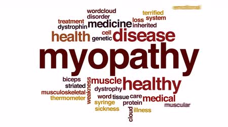 cellen : Myopathie geanimeerde word cloud.
