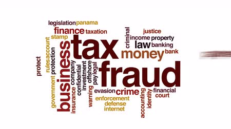 daň : Tax fraud animated word cloud.