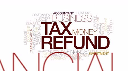tempo : Tax refund animated word cloud. Kinetic typography.