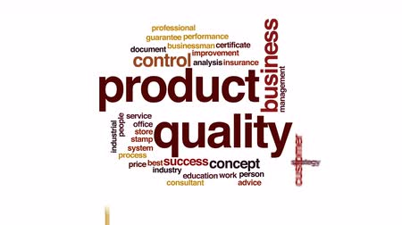 endüstriler : Product quality animated word cloud.