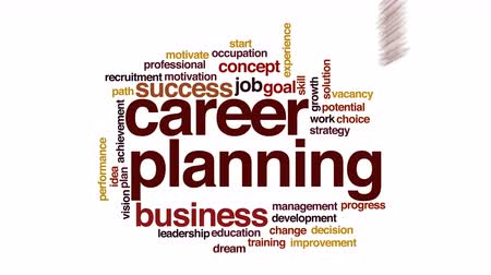 vaga : Career planning animated word cloud.