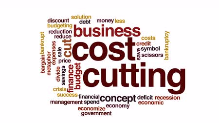 despesas : Cost cutting animated word cloud.