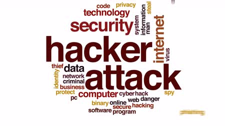 felhőzet : Hacker attack animated word cloud.