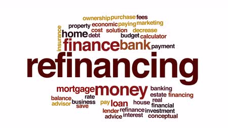 belangen : Herfinanciering geanimeerde word cloud.