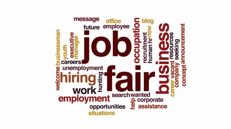 auxiliar : Job fair animated word cloud.