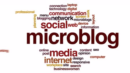 optimalizace : Microblog animated word cloud. Dostupné videozáznamy
