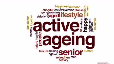 idade média : Active ageing animated word cloud.