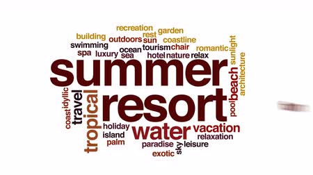 faíscas : Summer resort animated word cloud.