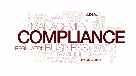 auditing : Compliance animated word cloud. Kinetic typography.