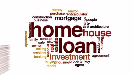 loans : Home loan animated word cloud.