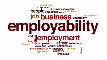 pracodawca : Employability animated word cloud.