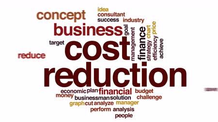 rada : Cost reduction animated word cloud.