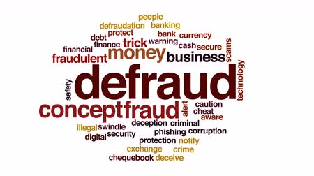 щит : Defraud animated word cloud.