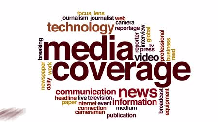 gazete : Media coverage animated word cloud.