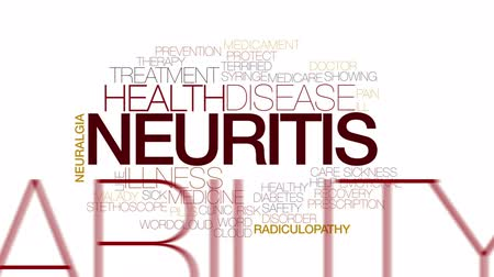 neuritis : Neuritis animated word cloud. Kinetic typography.